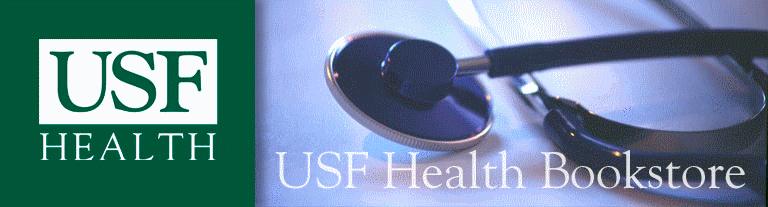 USF Health logo, picture of stethoscope